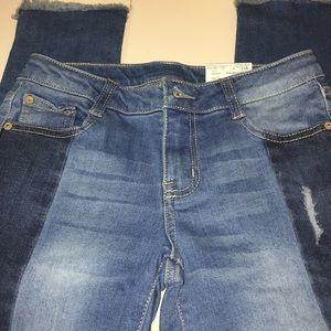 Arizona two-tone distressed jeans